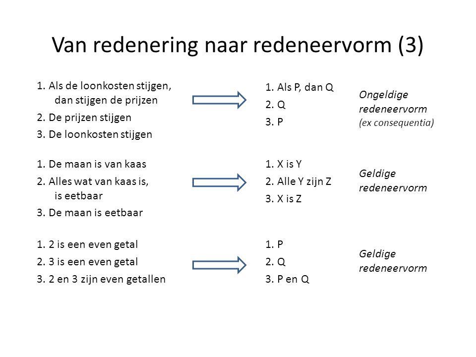 Van redenering naar redeneervorm (3)