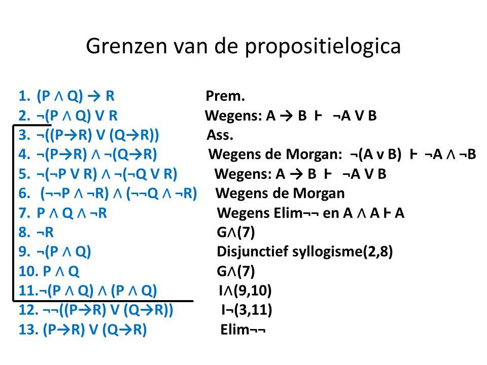 Grenzen van de propositielogica