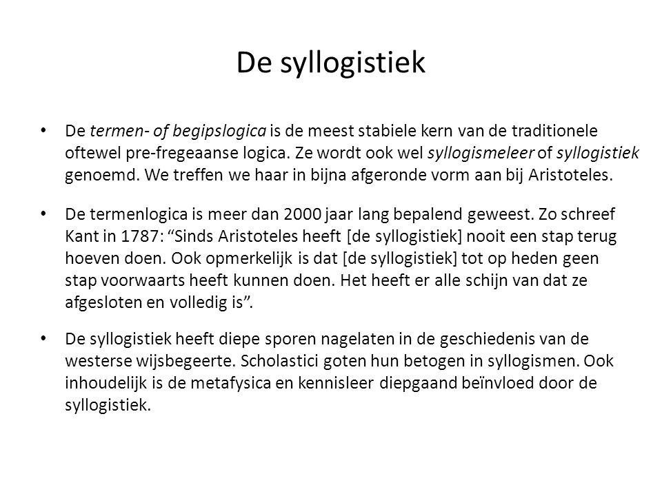 De syllogistiek