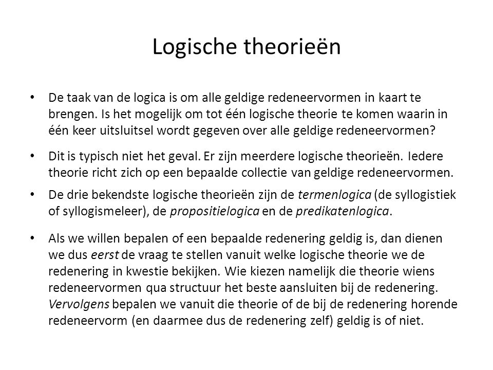 Logische theorieën