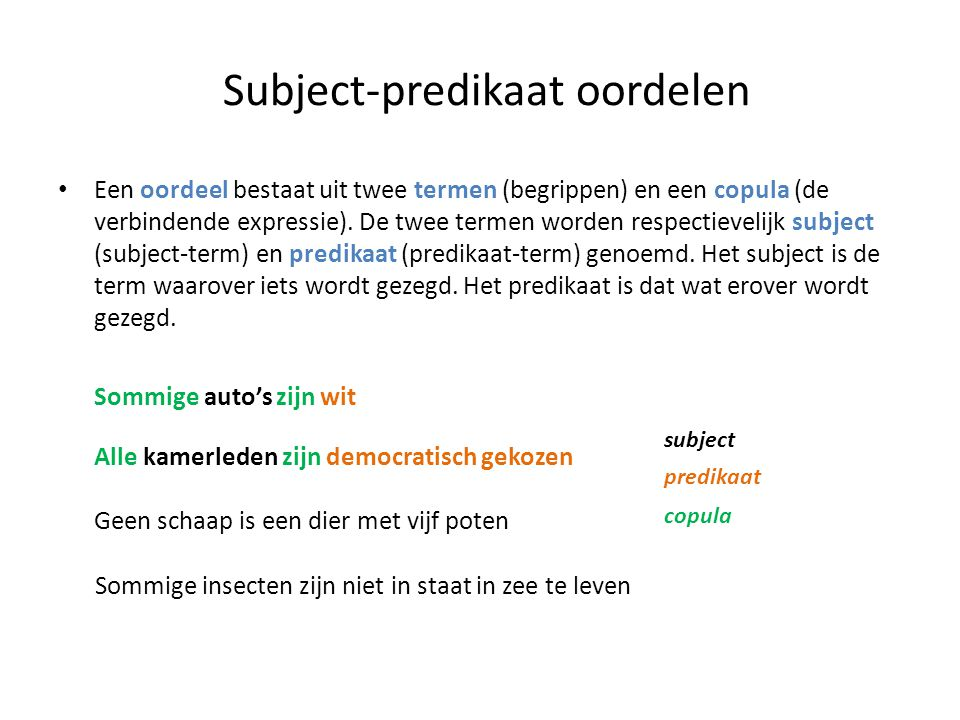 Subject-predikaat oordelen