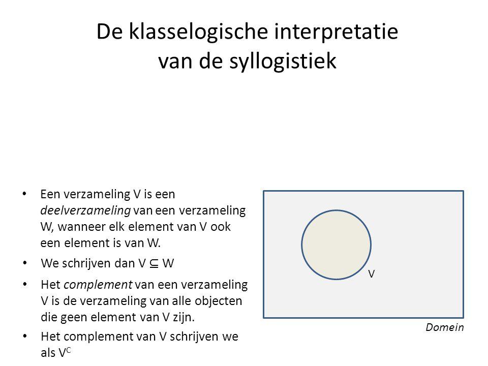 De klasselogische interpretatie van de syllogistiek