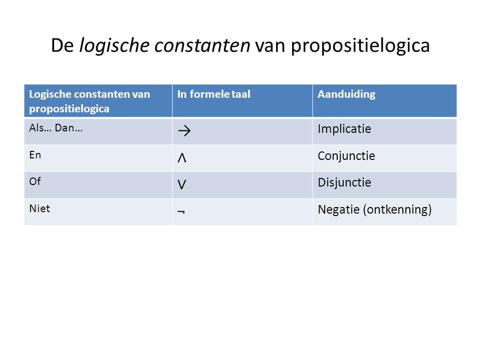 De logische constanten van propositielogica