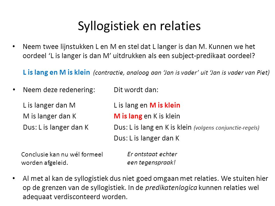 Syllogistiek en relaties