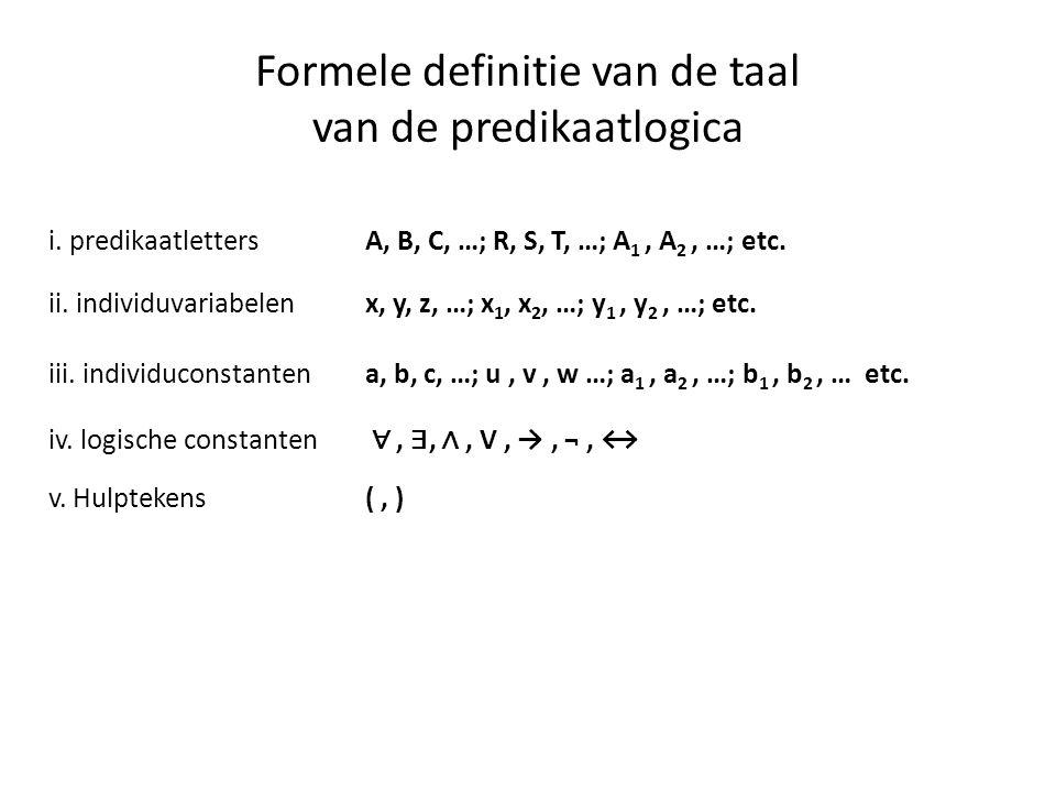 Formele definitie van de taal van de predikaatlogica