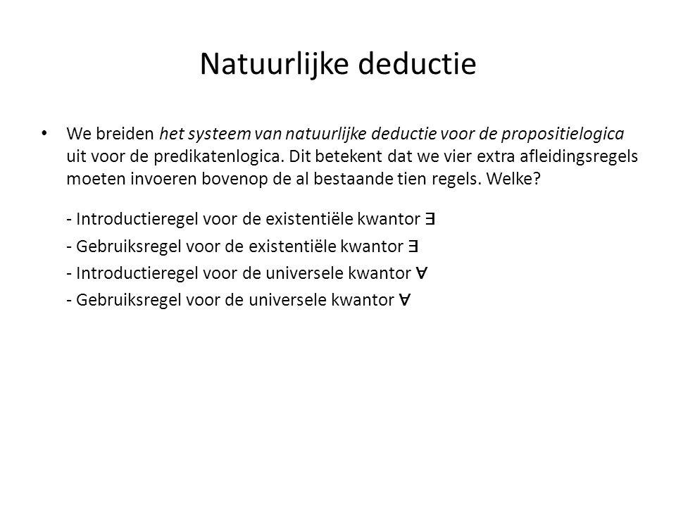 Natuurlijke deductie
