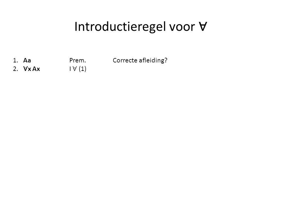 Introductieregel voor ∀