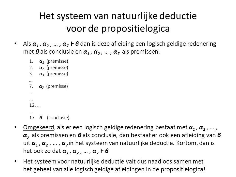 Het systeem van natuurlijke deductie voor de propositielogica