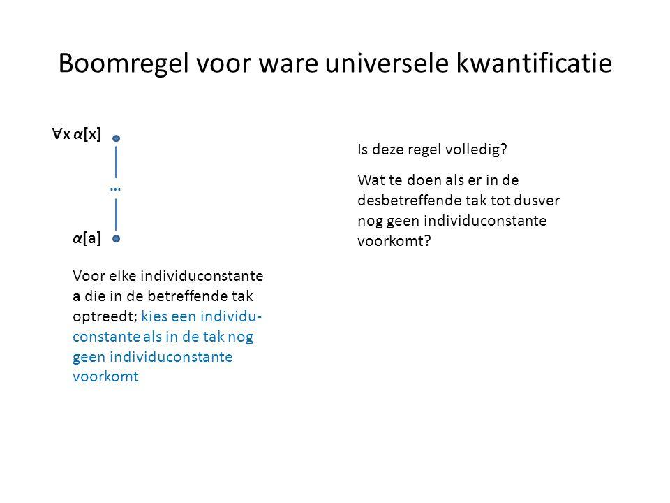 Boomregel voor ware universele kwantificatie