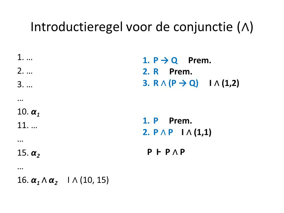 Introductieregel voor de conjunctie (∧)