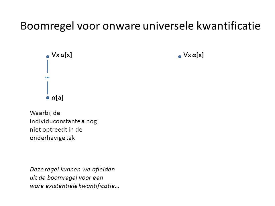 Boomregel voor onware universele kwantificatie