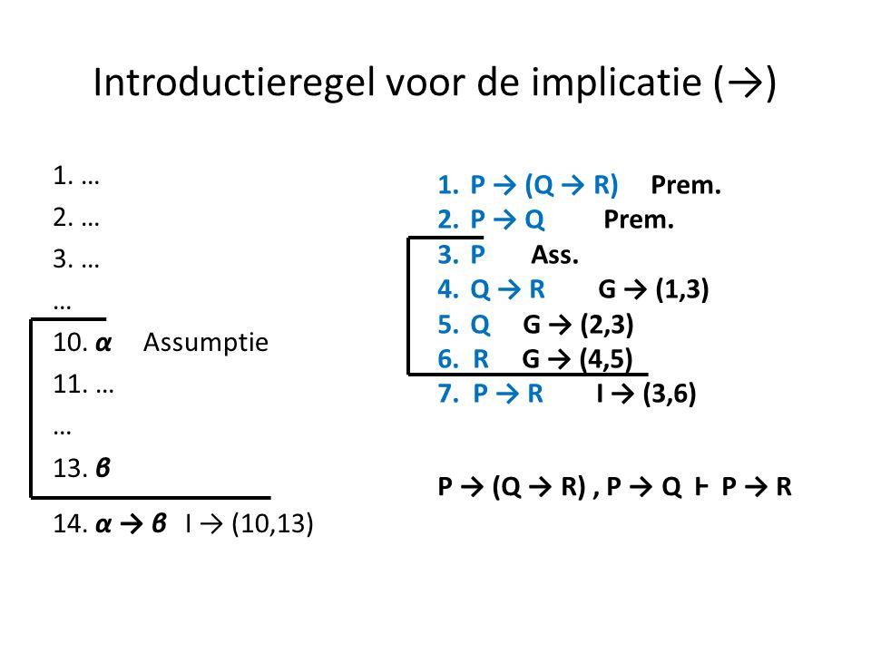 Introductieregel voor de implicatie (→)