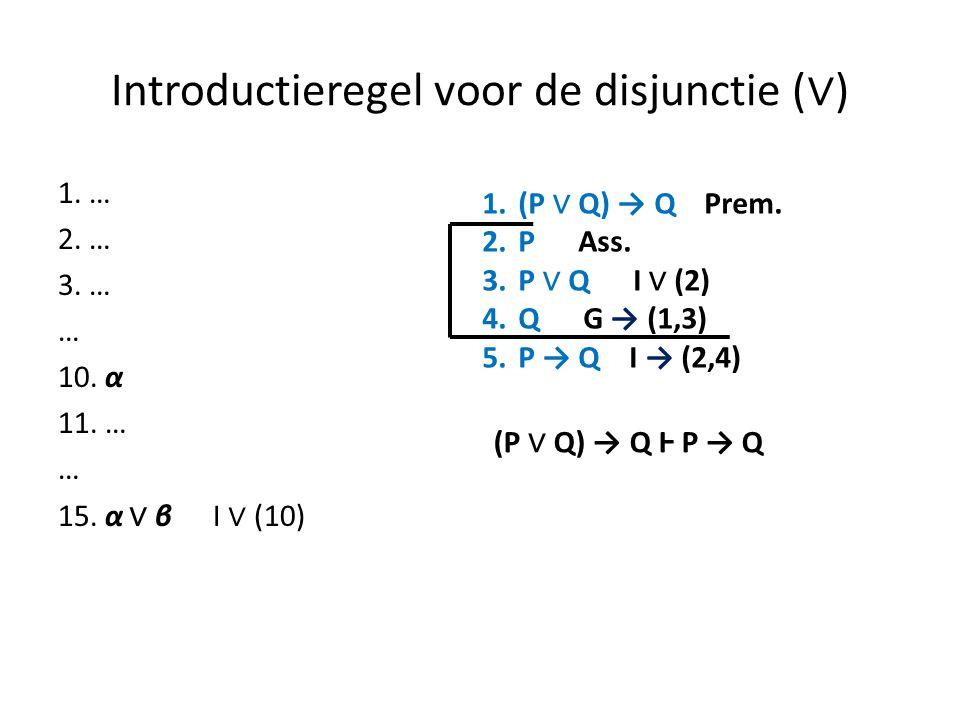 Introductieregel voor de disjunctie (∨)