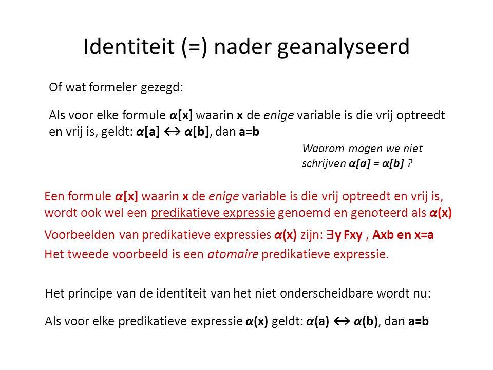 Identiteit (=) nader geanalyseerd