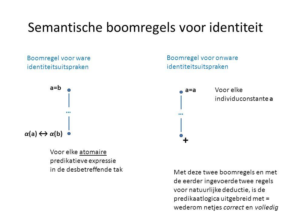 Semantische boomregels voor identiteit