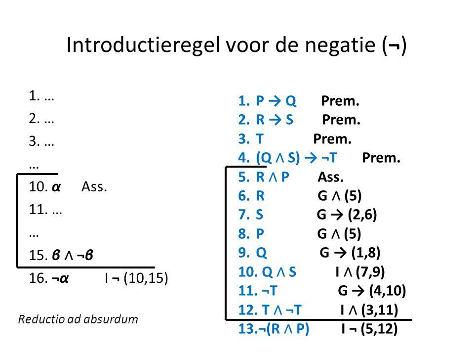 Introductieregel voor de negatie (¬)
