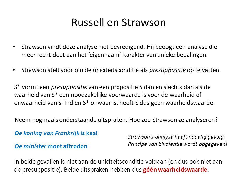 Russell en Strawson