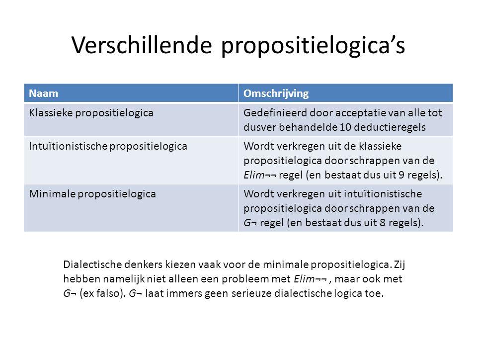 Verschillende propositielogica's