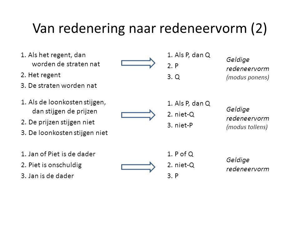 Van redenering naar redeneervorm (2)