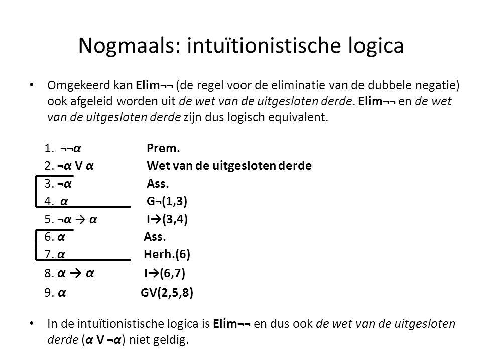 Nogmaals: intuïtionistische logica