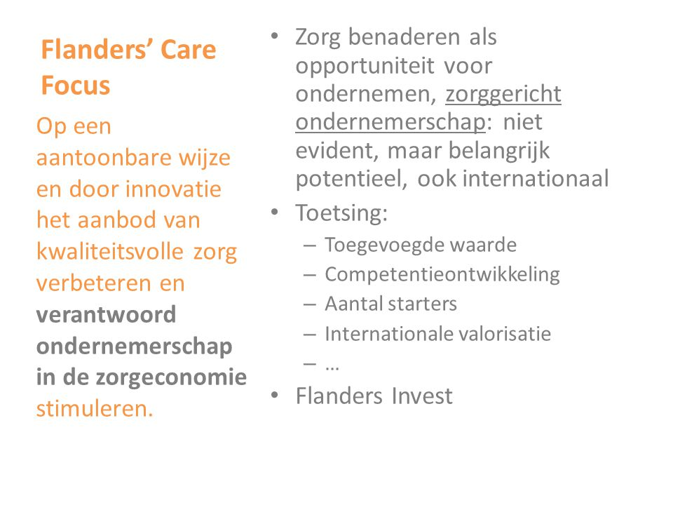 Flanders' Care Focus