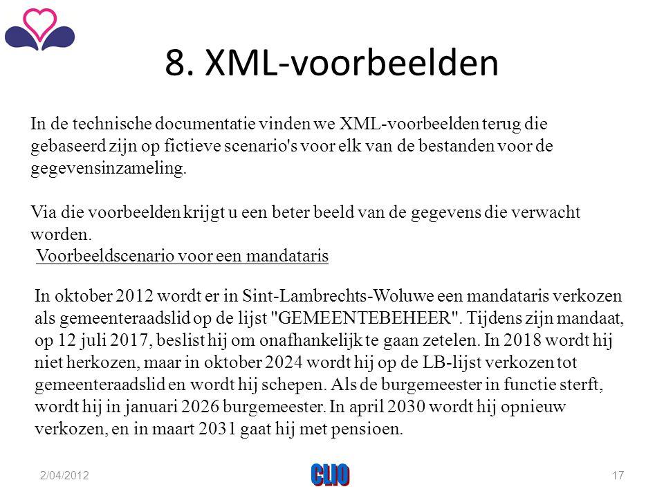 8. XML-voorbeelden
