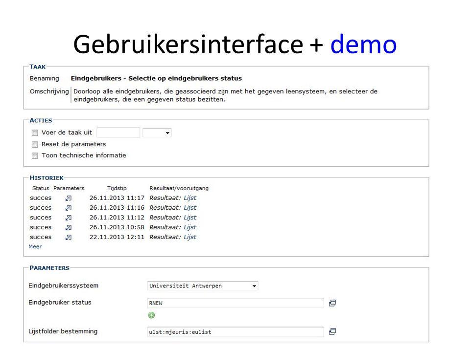 Gebruikersinterface + demo