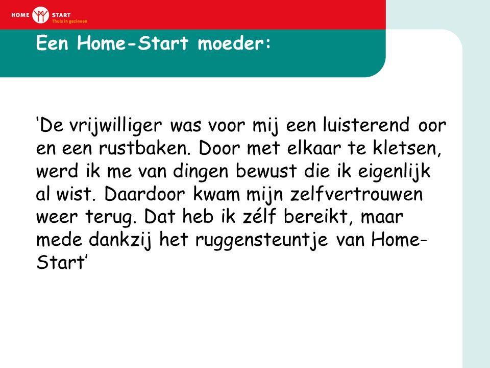 Een Home-Start moeder: