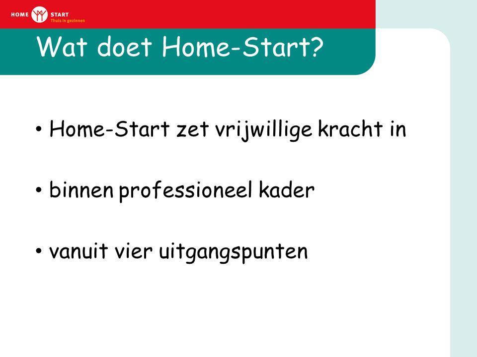 Wat doet Home-Start Home-Start zet vrijwillige kracht in