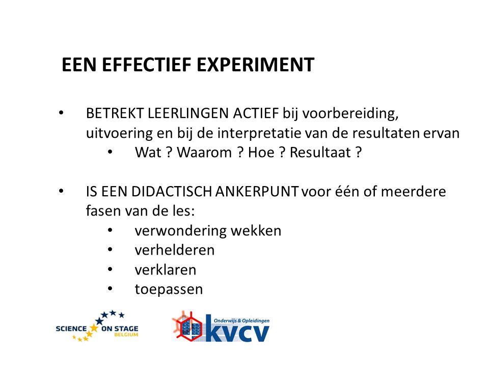 EEN EFFECTIEF EXPERIMENT