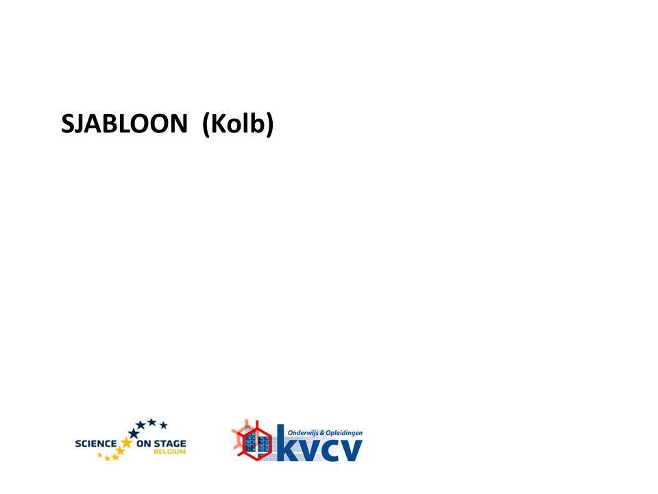 SJABLOON (Kolb)