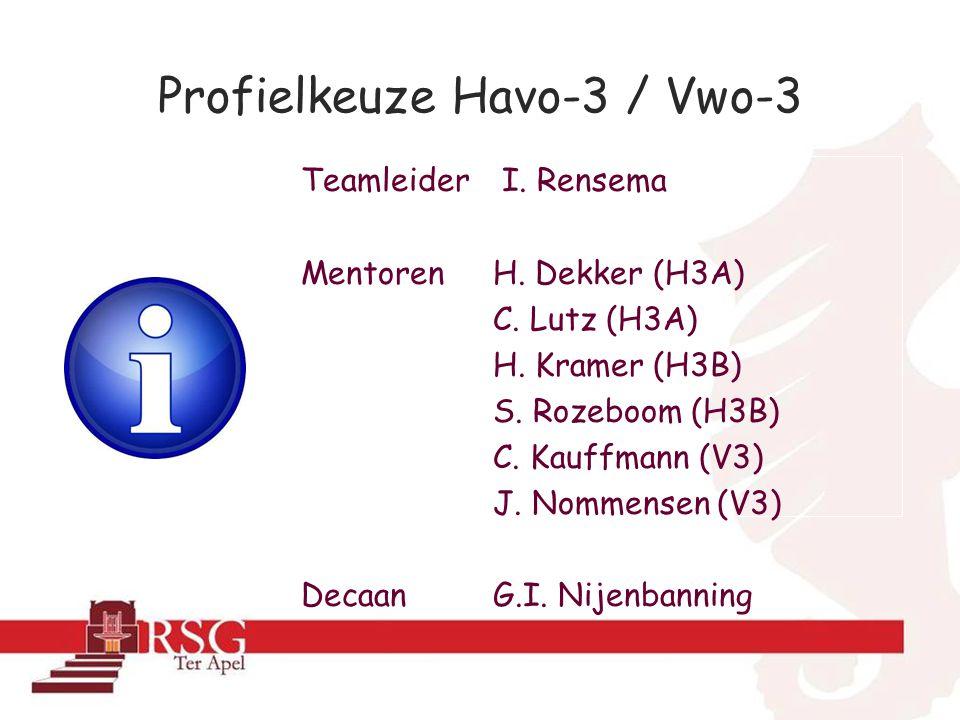 Profielkeuze Havo-3 / Vwo-3