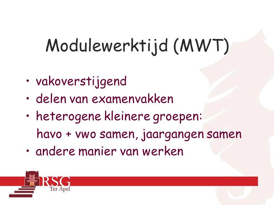Modulewerktijd (MWT) vakoverstijgend delen van examenvakken