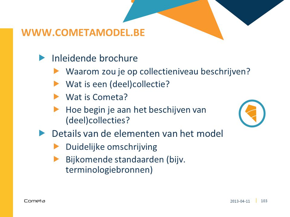 www.cometamodel.be Inleidende brochure