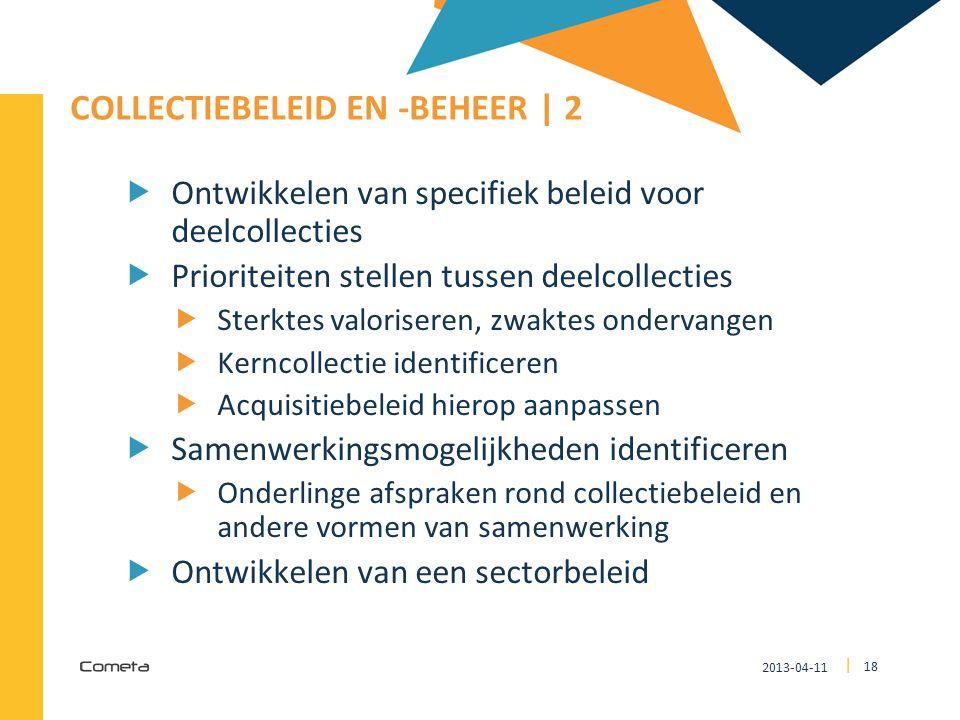 Collectiebeleid en -beheer | 2