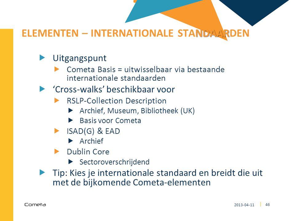 ELEMENTEN – Internationale Standaarden