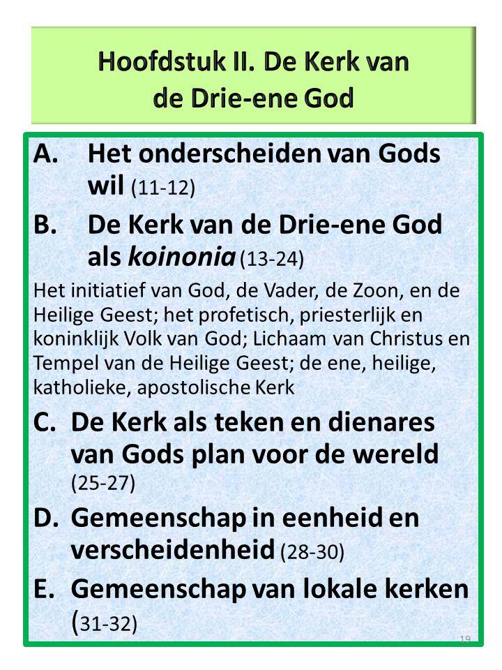 Hoofdstuk II. De Kerk van de Drie-ene God