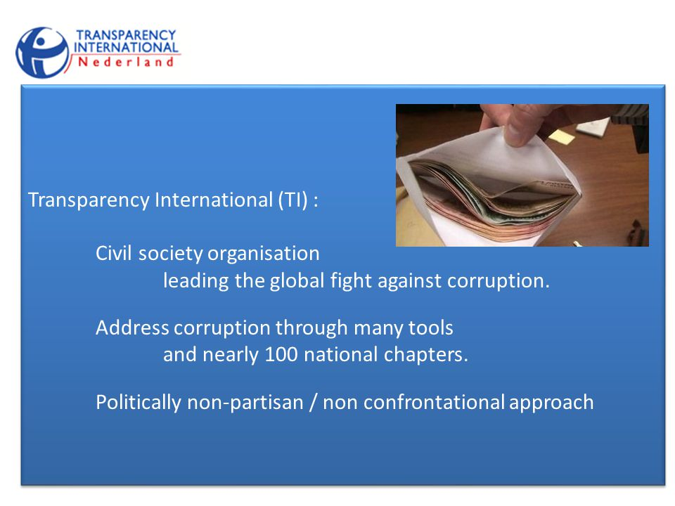 Transparency International (TI) : Civil society organisation