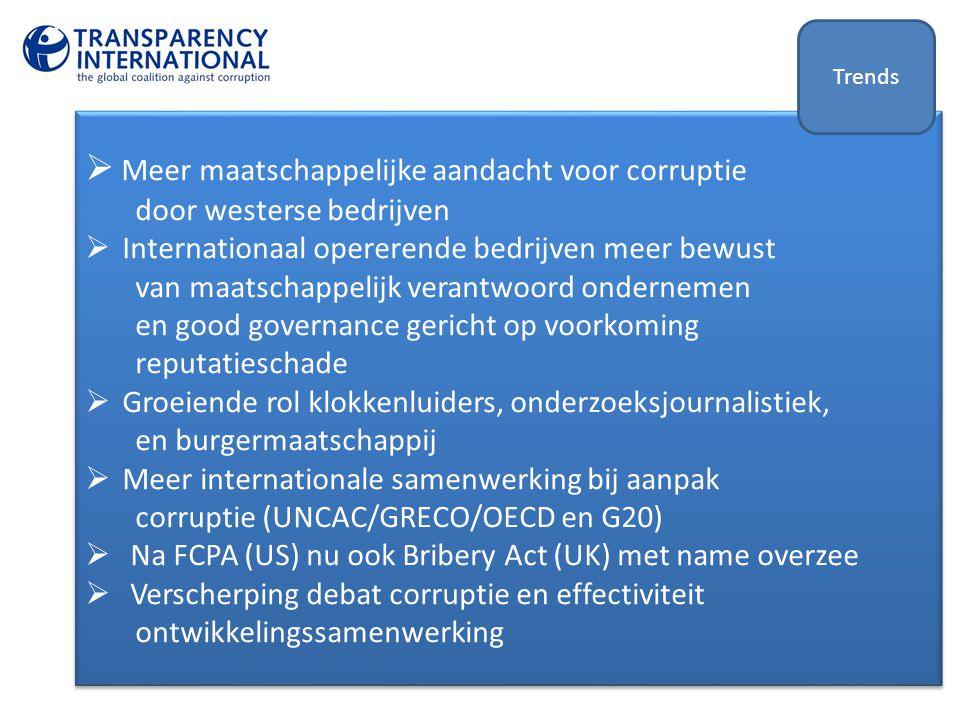 Meer maatschappelijke aandacht voor corruptie