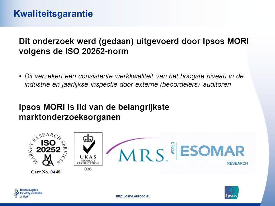 Kwaliteitsgarantie Dit onderzoek werd (gedaan) uitgevoerd door Ipsos MORI volgens de ISO 20252-norm.