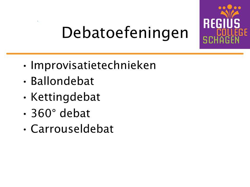 Debatoefeningen Improvisatietechnieken Ballondebat Kettingdebat