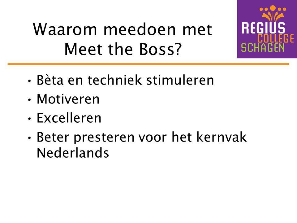 Waarom meedoen met Meet the Boss
