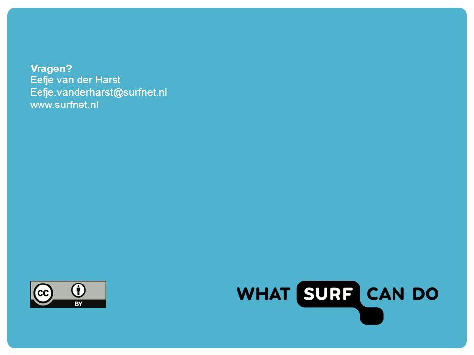 Vragen Eefje van der Harst Eefje.vanderharst@surfnet.nl