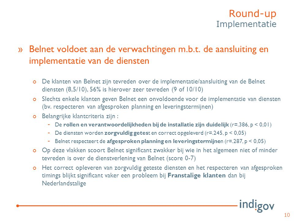Round-up Implementatie