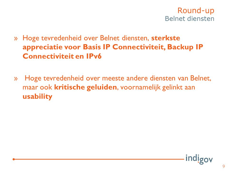 Round-up Belnet diensten
