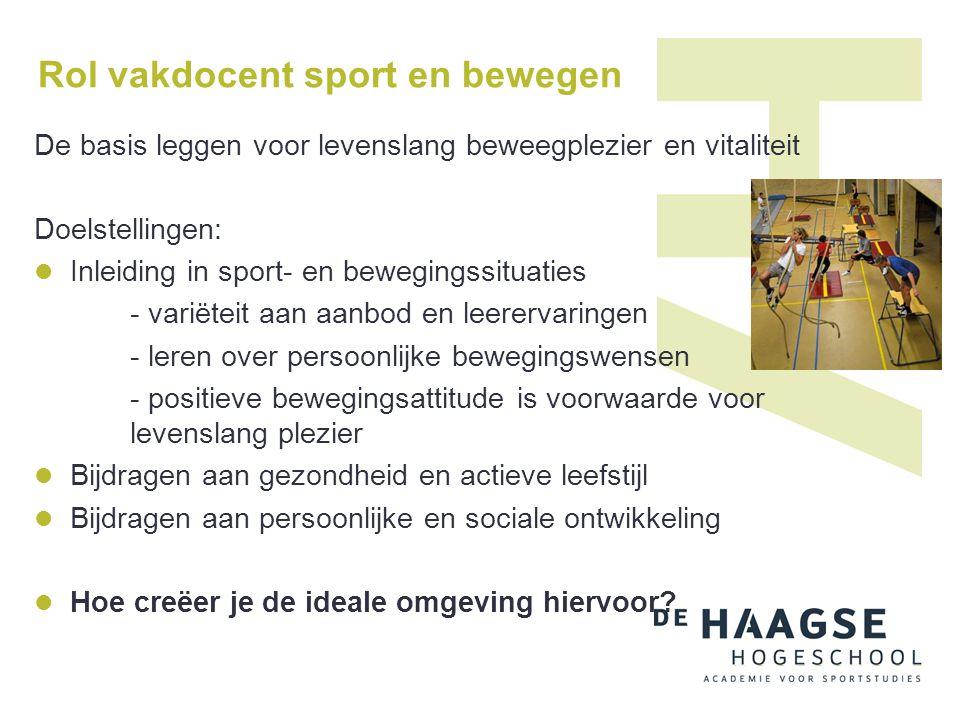 Rol vakdocent sport en bewegen