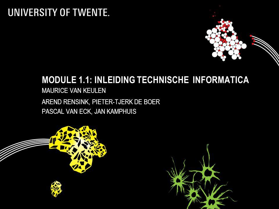 Module 1.1: Inleiding technische informatica
