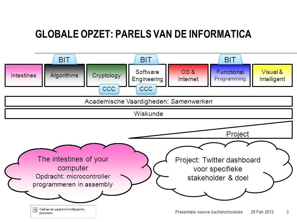 Globale opzet: Parels van de informatica