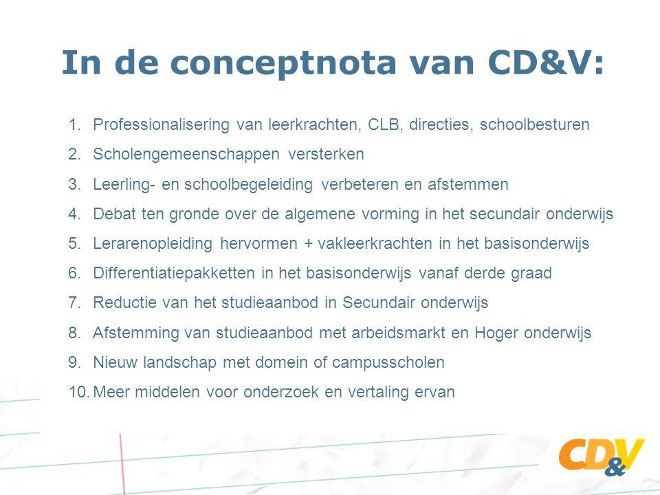 In de conceptnota van CD&V: