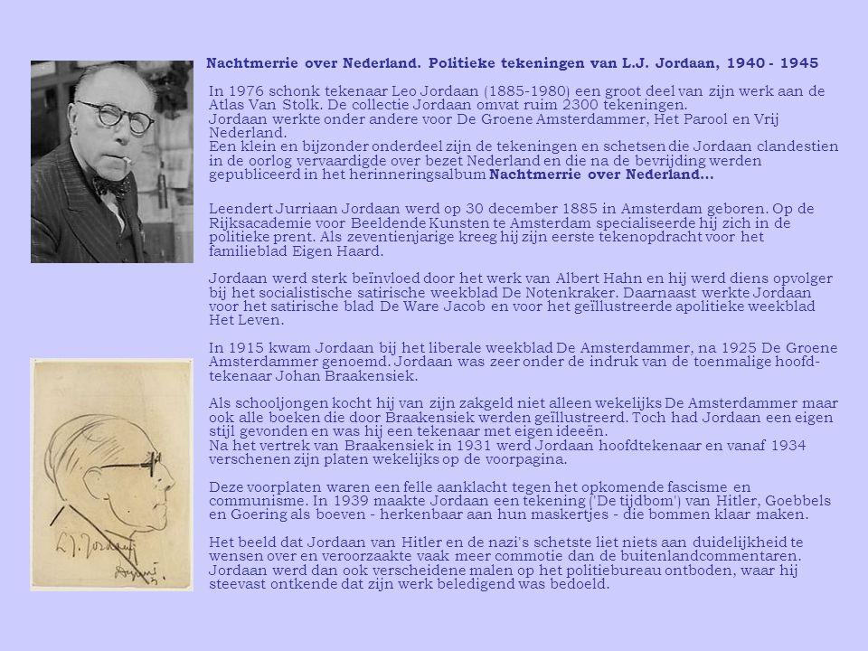 Nachtmerrie over Nederland. Politieke tekeningen van L. J
